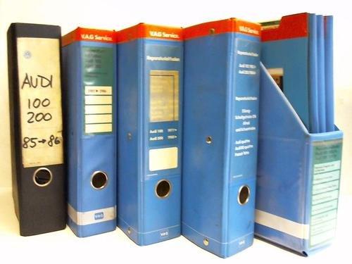 Reparaturleitfaden / Technische Blätter für Audi 100 und Audi 200 aus 1977 bis 1986. 4 Ordner u. 1 Schuber