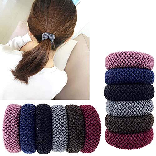 Carykon - 12 gomas elásticas sin costuras para el pelo para niñas y mujeres, colores variados