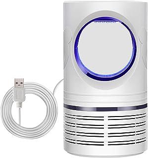 LLXX para el Dormitorio 8LED Caja extraíble con alimentación USB Trampa de Insectos portátil Caja Fuerte silenciosa Oficina en el hogar Lámpara Anti-Mosquitos UV Control de plagas