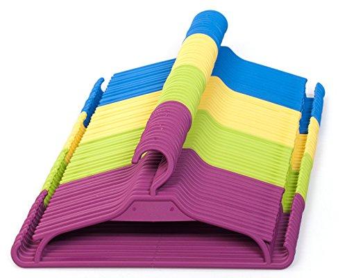Kinder Kleiderbügel 25 Set Baby Kinderschrank Kinderkleiderbügel (Violett/Pink)