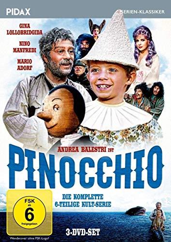 Pinocchio , Die komplette 6-teilige Kult-Serie mit Starbesetzung (Pidax Serien-Klassiker) [3 DVDs]