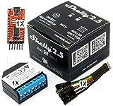 KIt Shelly 2.5 Wireless Dual relè Interruttore Intelligente domotica, Amazon Alexa e Google home 1 pz adattatore 1 pezzo Programmatore 1 Pezzo