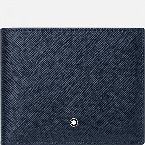 Montblanc MB Sartorial Wallet 6cc Cartera, Hombres, Bl (Azul), Talla Única