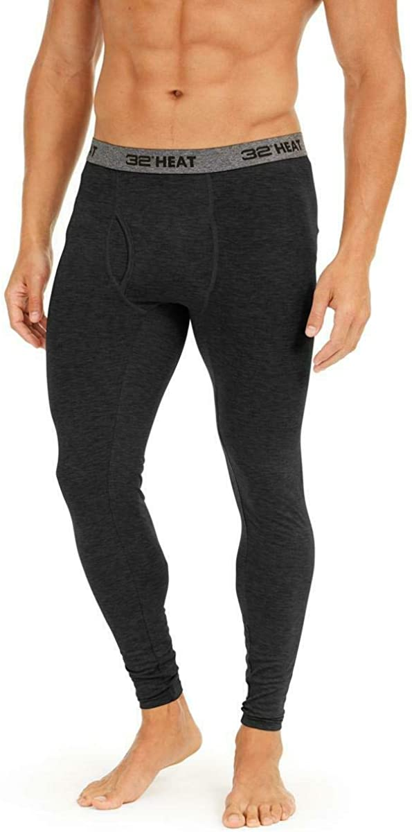 32 Degrees Mens Underwear Base Layer Legging Thermal $28 Black XL