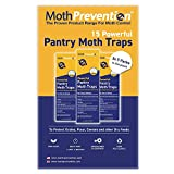 MothPrevention Powerful Pantry Moth Traps with Pheromones Prime   15-Pack   Pantry Moth Trap for House - Moth Killer Indoor   Unique Design for Maximum Pheromone Dispersal - Odor-Free & Natural