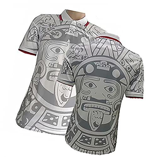 Hombre Retro 1998 México México Jersey # 15 Hernández # 11blanco # 1 Camiseta de fútbol de Campos, Camisa de Uniforme de fútbol, Fan Weatshirt White-XL