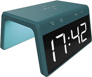 KSIX Snabb laddning väckarklocka för bordet, färger, 10 W (grön)