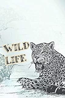 Wild Life: 110 Lined Pages for a Dream Diary or Journaling, with Matte Cover Art for Women and Leopard Lovers