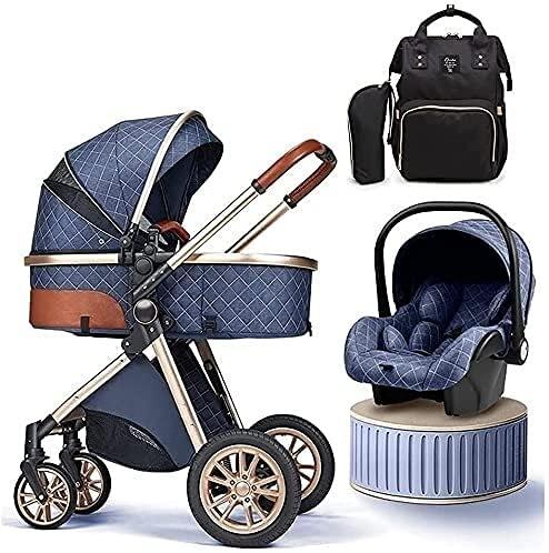 Cochecito combinado , Cochecito para bebé para recién nacido, cochecito de carruaje 3 en 1, cochecitos de lujo con bolso de mamá, cochecito de cochecito de bebé, cochecito de seguridad de carro de beb