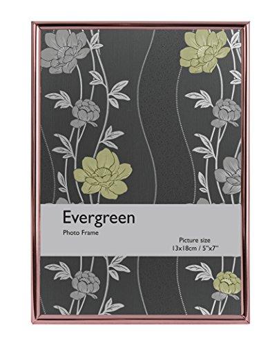 Evergreen Bord Fin de Cadre pour Photo 20,32 x 25,4 cm, Argent, Or Rose, 20,32 x 1 x 25,4 cm, Argent, Rose Gold, 12.7 x 1 x 17.78 cm