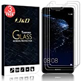 J&D Compatible for Huawei P10 Lite Glass Screen Protector (3-Pack), Not Full Coverage, Tempered Glass HD Clear Ballistic Glass Screen Protector for P10 Lite Glass Film
