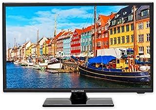 """Sceptre E195BV-SR 19"""" Slim LED HDTV 720p with HDMI USB VGA Inputs, Machine Black 2020 New"""