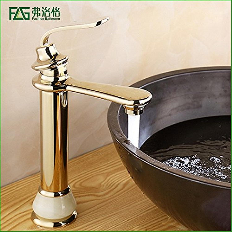 LaLF Copper Bathroom Basin Faucet Hot and Cold Water Mixer