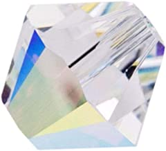 100pcs 3mm Adabele Austrian Bicone Crystal Beads Clear AB Compatible with Swarovski Crystals Preciosa 5301/5328 SSB302
