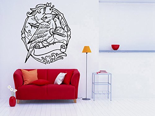 Wall Room Decor Art Vinyl Sticker Mural Decal Red Robin Bird Tattoo Poster Big AS1973