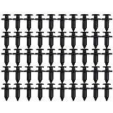 Saikogoods 50ピース8ミリメートルatvオートバイアクセサリーナイロンフェアリングトリムパネルファスナークリップリベット用ホンダ用ヤマハ用スズキ用川崎用 ブラック