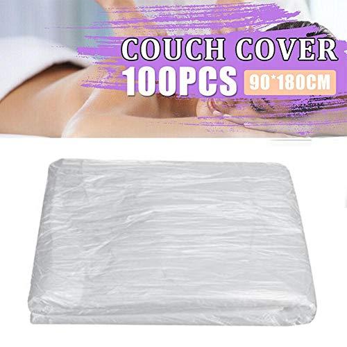 Einweg Bettwäsche 100 Stück Einweg Spannlaken Tragbar Hygienelaken für Massageliegen Hotel Spa Salon - 90 x 180cm
