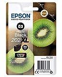 Epson 202XL - Cartucho de tinta para impresoras, negro fotográfico, 7.9 ml, 800 páginas, válido para los modelos Expression Premium XP-6000, XP-6005, Ya disponible en Amazon Dash Replenishment
