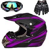 Motorcycle Helmet, Powersports Motorcycle Man Woman Adult ATV MX Helmet, DOT Certification Standard, Four Seasons,B,S