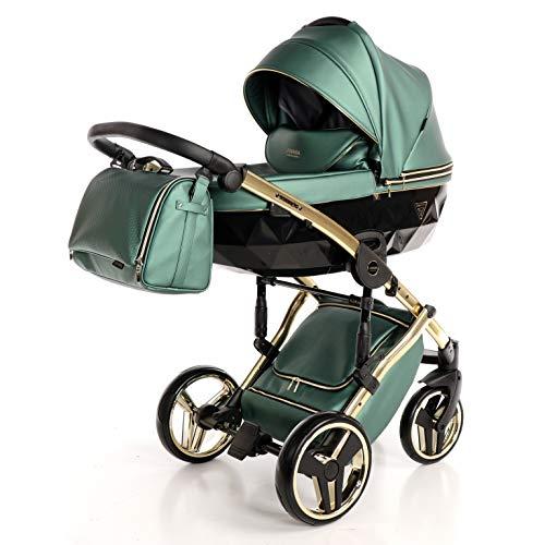 Cochecito de bebé Junama Diamond Fluo Line 3en1 carro trio