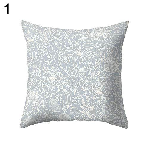 Mysracing Pfirsichhaut hellblauer Duft Netzstoff Blumenrankenblatt Druck Kissenbezug Kissenbezug der von Erwachsenen und Kindern geliebt Wird und Ihnen den besten angenehmen Schlaf gibt.