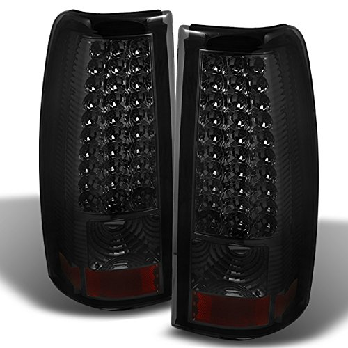For 03-06 Chevy Silverado 04-06 GMC Sierra Pickup Truck SMoke LED Tail Lights Brake Lamps Replacement