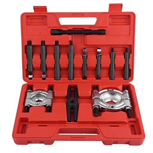 Dalkey123 Universal 12 TLG Lagerabzieher Bearing Separator Set Polradabzieher Trennmesser Werkzeug Satz (12 TLG)