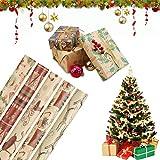 5 Hojas Papel Para Envolver Regalos,Navidad Papel para Regalo,Juego de Papel de Regalo para Navidad,Arbol Navidad Envolver Cajas de Regalo,Papel para Envolver Regalos,Papel de Regalo (7)