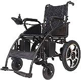 Portátil plegable silla de ruedas silla de ruedas la movilidad de la silla eléctrica, una silla ligera para scooter para personas mayores con discapacidad, asiento ancho de 49 cm, 20A bat.