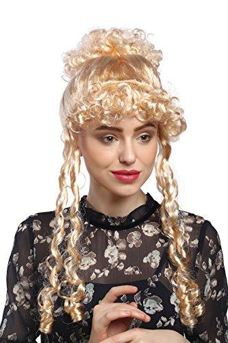 WIG ME UP - Parrucca Donna Carnevale Storica Biedermeier Romantica Rinascimento Barocco Biondo Chiaro Biondo Oro