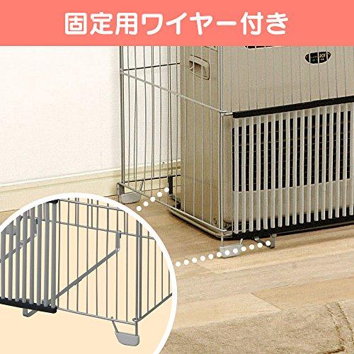 アイリスオーヤマファンヒーターガード幅58×奥行50×高さ65cmシルバーFTE-580N