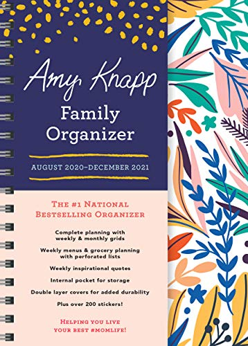 Product Image 1: 2021 Amy Knapp's Family Organizer: 17-Month Weekly Planner for Mom (Includes Stickers, Thru December 2021)