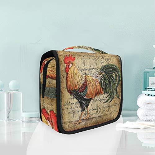 Make-up cosmetische tas haan vogel dier kunst draagbare opslag reizen toilettas