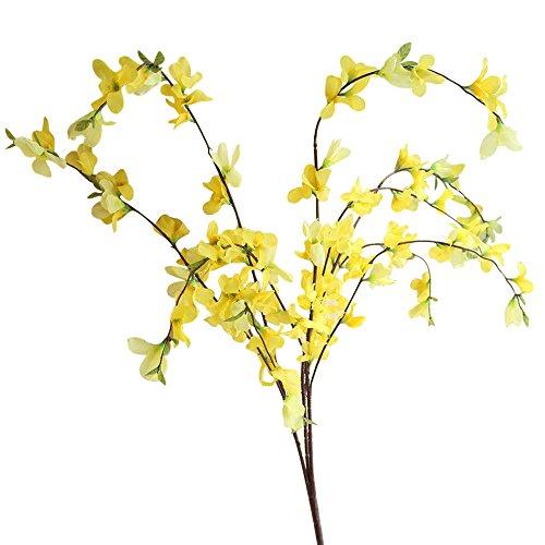 Andouy Künstlich Baby Atmen Blume DIY Fälschung Gypsophila Blumenstrauß Arrangieren Hochzeit Party Zuhause Dekoration(1 PC.Gelb-1)