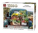 King 55862 - Puzzle de 1000 Piezas, diseño Vintage de camión con Flores, Color Completo, 68 x 49...
