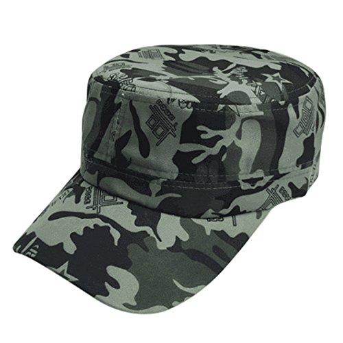 OYSOHE Damen Herren Unisex Baseball Caps, Neueste Männer Frauen Tarnung Outdoor Klettern Baseballmütze Hip Hop Dance Hut Kappe (Einheitsgröße, Grün)