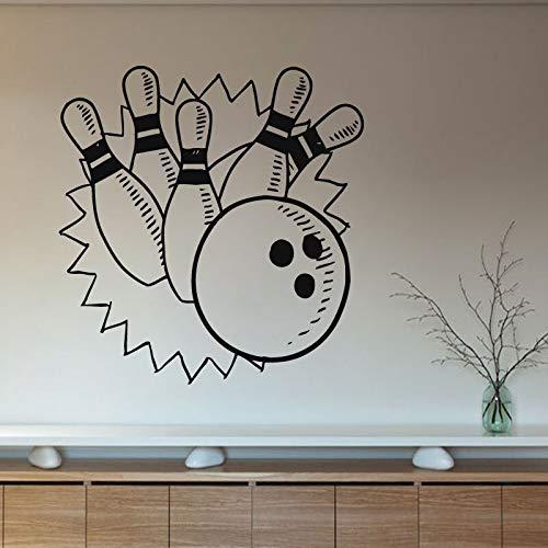 sxh28185171 Bowling Spiel Wandaufkleber Wandkunst Innenarchitektur Hauptdekoration Wohnzimmer Dekoration Kinderzimmer Junge Zimmer Kinderzimmer Wandtattoo43cmx43cmM