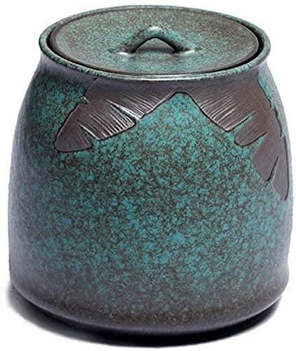 Urnas funerarias de cremación para cenizas humanas Urna funeraria de mascotas Caja conmemorativa de cremación de exquisitos recuerdos familiares de cerámica hechos a mano para guardar cenizas de adul