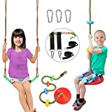 Swing Set for Kids Outdoor 2 Pack with Swings Seat&Tree Climbing Rope Swing Platforms Swing Set Accessories with Tree Straps Outside Playground Backyard