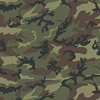 (Camo Green) - Siser EasyPatterns Heat Transfer Vinyl HTV for T-Shirts 46cm by 30cm (Camo Green)
