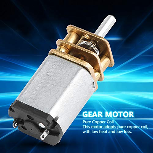 DC6V Gear Motor, 13GA030 Micro All-Metal Gear Reduction Motor Low Noise Gear Motor for Car Model,Robot and Electronic Locks DIY DC6V 70/100/200rpm (70rpm)