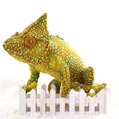 47-B Plüschspielzeug, Simulation Bunter Drachen Weiche Spielzeug, Gecko Styling Kreative Lustige Kissen Weihnachten Geburtstagsgeschenk (Color : Yellow)