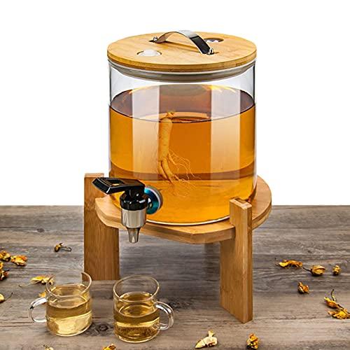 GLLX Almacenar Botellas de Vidrio, Botella de Almacenamiento de Vidrio, Hogar Partido Botes herméticos Botella de Vino, Usado para Vino Tinto/Vino Blanco/Bebida,5000ML