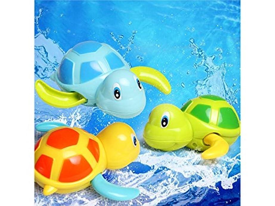 心から問題必要性Oside 1 PCのカメの巻き上げチェーン小さな動物の水浴プール水のおもちゃ新しい生まれた赤ちゃんのための子供子供(ランダム色)