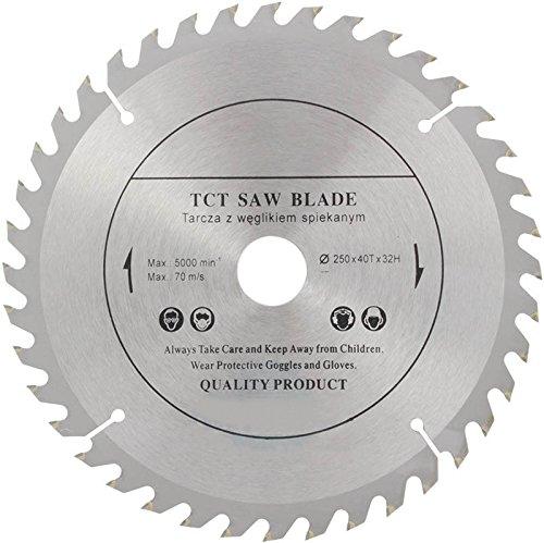 Parte superior calidad sierra de hoja de sierra circular (Skill) 250 mm x 32 mm para discos de corte de madera circular 250 mm x 32 mm x 40 dientes
