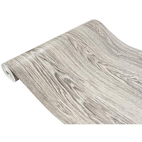 Askol DecoMeister Klebefolie in Holzoptik Möbelfolie Selbstklebende Holzfolie Deko-Folie Holzdekor Selbstklebefolie 90x100 cm Sibirische Eiche