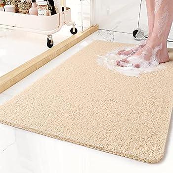 Non-Slip Bathtub Mat Shower Mats for Bath Tub PVC Loofah Bathroom Mats for Wet Areas Quick Drying  17 x30