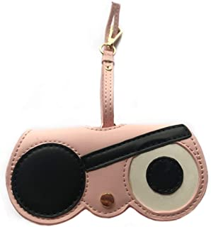 Womens Leather Cute Sunglasses Case Eyeglasses Bag Handbag Ornament