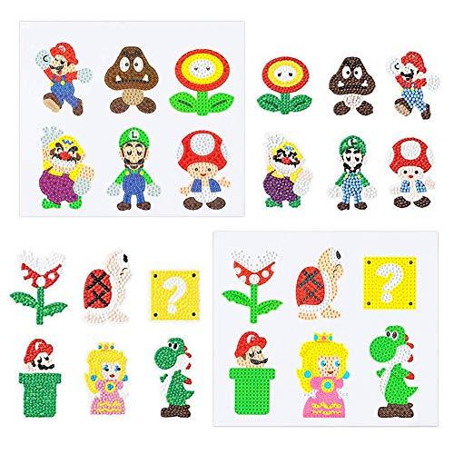 SUNSK 5D Diamond Painting Super Mario Diamant Schilderij Kit Stickers Verf met Diamanten Verjaardag Decoratie voor Kids…