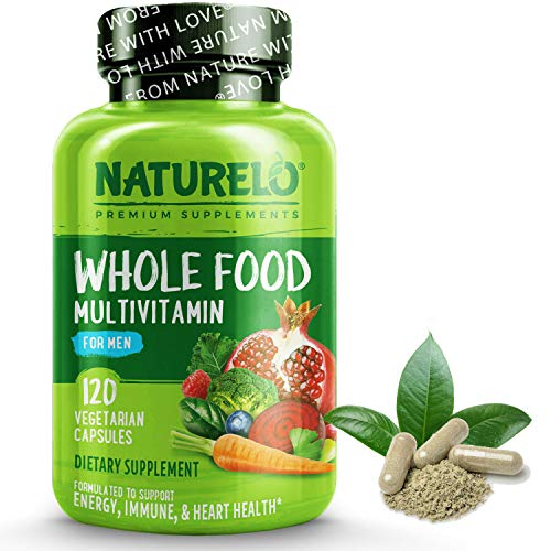 NATURELO Whole Food Multivitamin for Men - with Natural Vitamins, Minerals, Organic Extracts -...